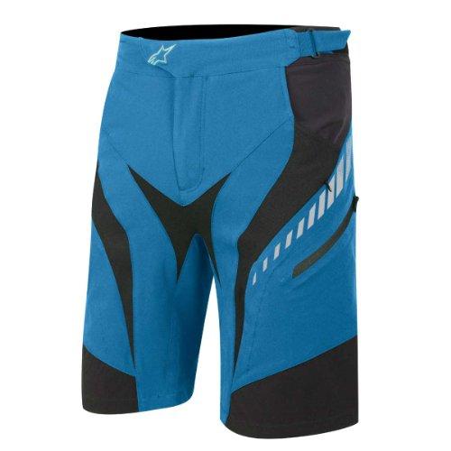 Alpinestars Drop Freeride Enduro Fahrrad Shorts, Unisex Jungen Herren, Electric Blue/White/Black