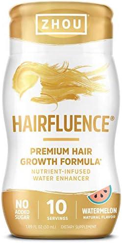 Zhou Hairfluence Water Enhancer Premium Hair Growth Formula 1 69 fl oz 10 Servings product image