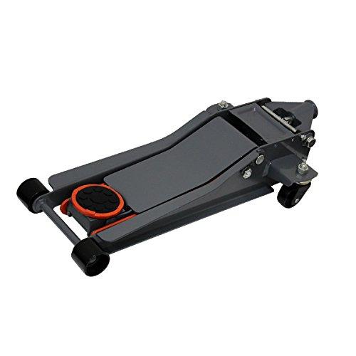 WEIMALL 【グレー】ガレージジャッキ 低床 フロアジャッキ 3t 3トン シンプルタイプ ジャッキ ローダンウンジャッキ 油圧ジャッキ 低床ジャッキ デュアルポンプ式 ローダウン車対応 ジャッキアップ
