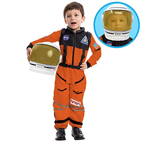 Spooktacular Creations Astronaut Orange Costume with Helmet (Medium)
