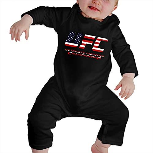 QUZtww Ufc Unisex Baby crawler Baby Jersey Body de manga larga Trajes de mamelucos 6-24 meses (100% algodón)