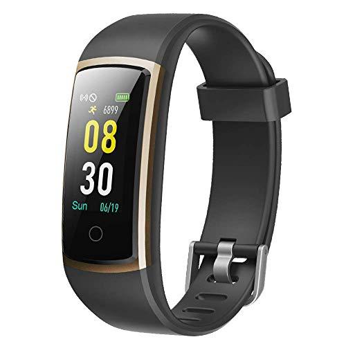 YAMAY Pulsera de Actividad Inteligente, Pulsera Inteligente con Blood Pressure Monitor y Pulsómetro,Impermeable IP68 Pulsera Deportiva Reloj Inteligente para Mujeres Hombres Smartwatch para Phone