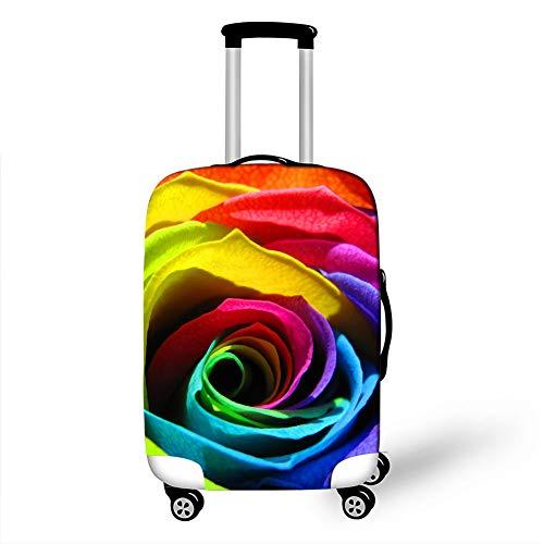 Fansu Elástico Funda Protectora de Maletas, Rosa Impresión Protector Suave Anti-Polvo Duradero y Lavable Cubierta de Equipaje de Viaje Luggage Protector Cover (Vistoso,L(26-28in))