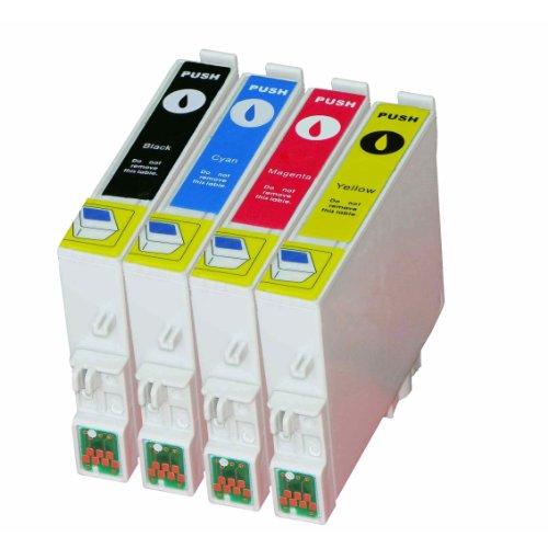 Pack de 4cartuchos de tinta para T0611, T0612, T0613, T0614Stylus D68, DX3800, DX3850, DX4200, DX4250, DX4800, DX 4850, DX5850