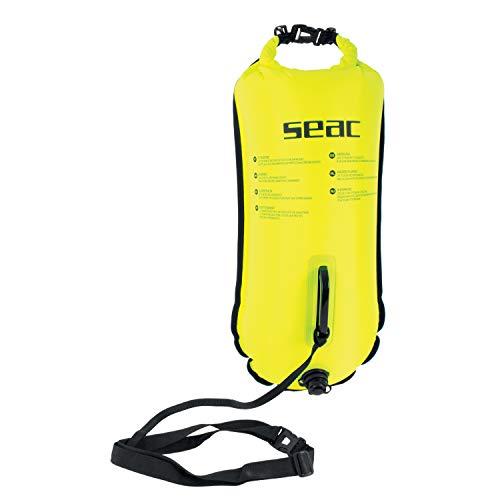 SEAC, Safe Dry, Boa Gonfiabile da Nuoto, 36 x 72 cm, 28 lt Unisex Adulto, Giallo, Taglia Unica
