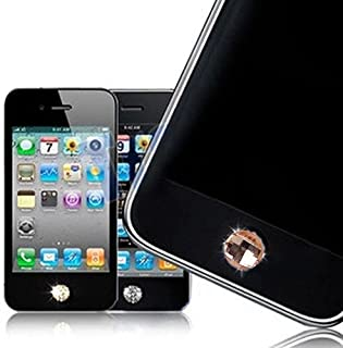 Bling Diamond Home Button Sticker for iPhone 4S 4 3GS 3G 2G iPad 2 iPad iPod Touch - Golden Yellow