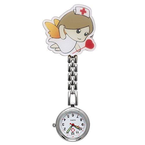 JSDDE Damen Krankenschwester FOB Uhr Pfleger Kette Analog Quarz Cartoon Mädchen Modell2