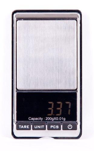 Quantum Abacus Bilancia professionale digitale di precisione/pesalettere/bilancina/bilancia dell\'orafo/bilancia da tasca 200g/0.01g PD-200g/0.01 DE