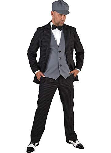 M220244-L grau-schwarz Herren 1920 er Jahre Mann Kostüm Gr.L=56
