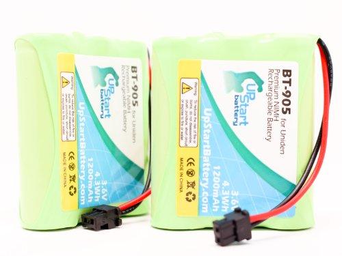 2x Pack - Uniden BT-905 Battery Replacement for Uniden Cordless Phone Battery (1200mAh, 3.6V, NI-MH) - Compatible with Uniden EZI996, CXAi5198, DXAI5588-2, CEZAI998, BT-800, EXI8560, EXAI5580, BT905, EXI7926, CXAi5698