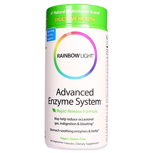 Rainbow Light Advanced Enzyme System 60 Vegetarian Capsules
