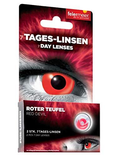 Kontaktlinsen FM 1W/0dpt/14,5mm Roter Teufel