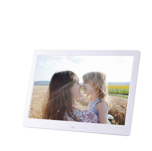 Hahaiyu 13 Pulgadas Marcos de Fotos Digitales (1028 × 800 resolución) Estante Delantero Publicidad máquina Publicidad Display Stand álbum de Fotos electrónico,White