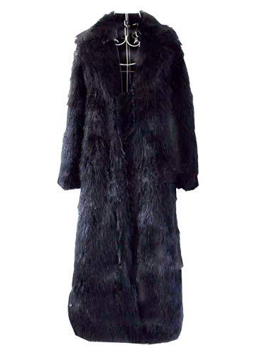 Huaishu Veste Chaude Femme Manteau Moelleux À Manches Longues Vêtements d'automne Hiver,Black,M