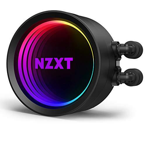 NZXT Kraken X53 240mm - RL-KRX53-01 - Raffreddatore di liquido CPU AIO RGB - Design a specchio infinito rotante - Alimentato da CAM V4 - Ventilatori del radiatore Aer P 120mm (2 inclusi)