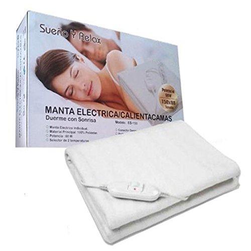 Cisne 2013, S.L. Manta Electrica Calienta Camas de 60w 150x80cm Color Blanco