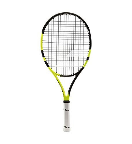 Babolat Aero Junior 25 - Raqueta de Tenis, Unisex Niños, Negro / Amarillo, 00