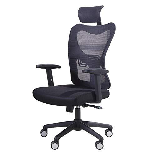 Zjcpow Silla de oficina de la computadora Silla de oficina ergonómica levantada 360 grados giratoria silla de escritorio oficina