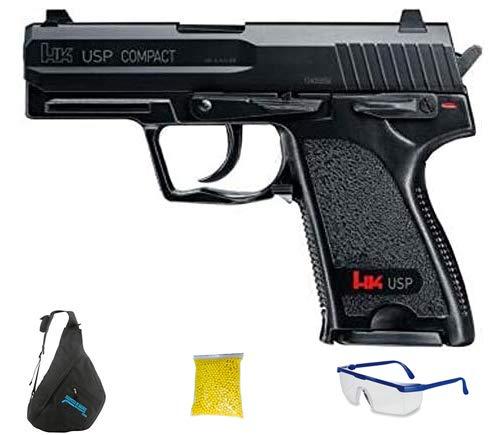 HK USP COMPACT - Pistola de Airsoft Calibre 6mm (Arma Aire Suave de Bolas de plástico o PVC). Sistema: Muelle. <3,5J