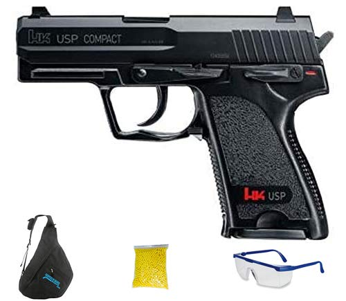 HK USP COMPACT - Pistola de Airsoft Calibre 6mm (Arma Aire Suave de Bolas de plástico o PVC). Sistema: Muelle.