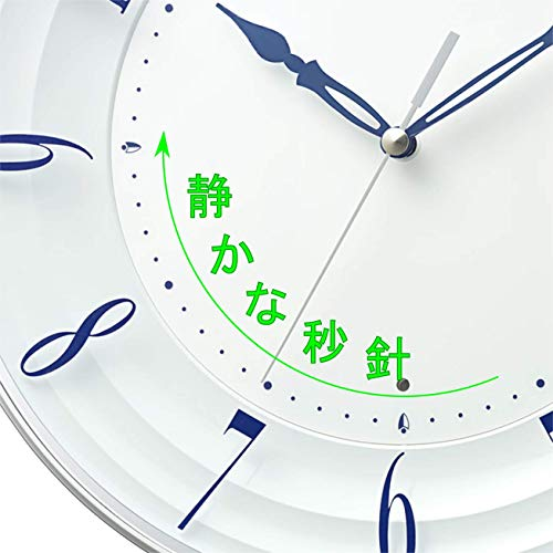 リズム時計工業(Rhythm)掛け時計ブルーΦ28x4.8cmシチズンCITIZEN電波時計連続秒針インテリア8MY556-004