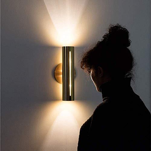 IREANJ Lámpara de pared moderna escandinava minimalista lámpara de pared negra creativa personalidad decoración hotel sala dormitorio dormitorio pasillo escalera pasillo 12 * 15 * 30 cm delicado