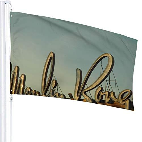 N/A Moulin Rouge Vlag Premium Polyester Decoratie Vlag 5ft x 3ft