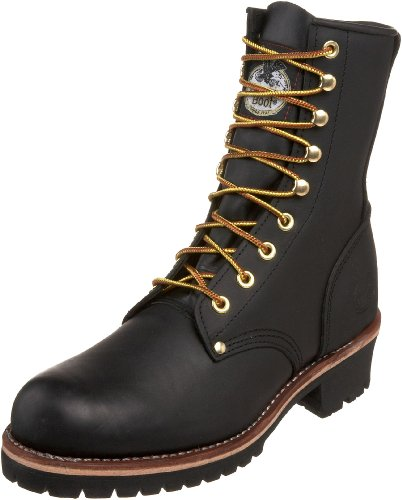 "Georgia Boot Men's Logger 8"" Black Non Steel,Oily Black,11 M US"