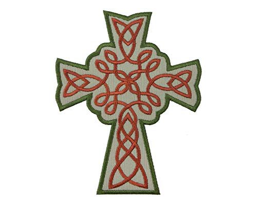 Celtic Knot-work Cross Patch in your choice of sew on or iron on patch