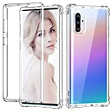 ZHK Galaxy Note 10 Plus Clear Case, Crystal Clear Shockproof Case with Built-in Protective Frame Rugged Soft TPU Anti-Scratch Full-Body Protection Case for Samsung Galaxy Note 10 Plus(2019)