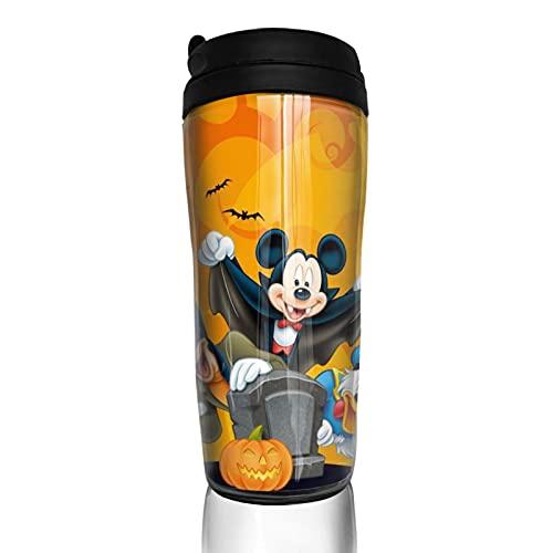 Cartoon Mickey Minnie Mouse Taza de café hombres mujeres aislamiento agua taza viaje oficina trabajo al aire libre novedad regalo cumpleaños 12 oz capacidad