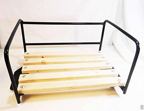 Traktor-Sitz Schwarz mit Bügel für Beifahrer / Sozius-Sitzbank / Traktorsitz Trecker Kotflügel Schlepper Kinder Bank Beifahrersitz Stuhl Sessel Platz Schlepper