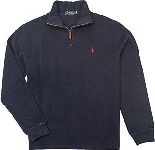 Polo Ralph Lauren Men Half Zip French Rib Cotton Sweater...