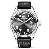 CARNIVAL Relojes para Hombre, Moda Casual Automatico Reloj Mecanico con Fecha de Visualización Luminoso Relojes de Pulsera 8777G (Color : Silver Black)