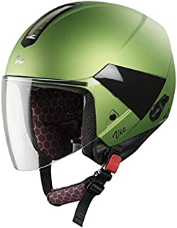 Steelbird SBH-5 VIC Female Glossy Y. Green with Plain Visor,540 mm
