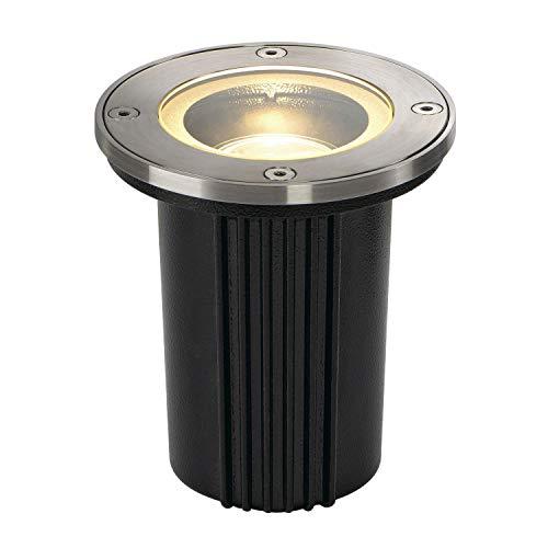 SLV, Faretto da incasso a pavimento, forma circolare, in acciaio Inox, GU10
