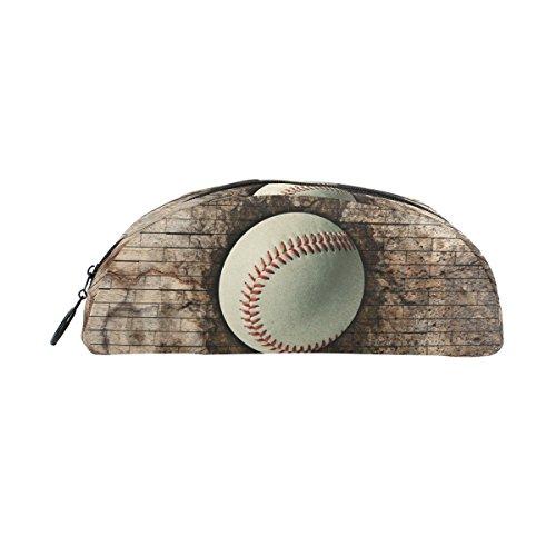 bennigiry Brick Wall 3D Baseball Halbkreis Bleistift Fall, großes Fassungsvermögen Pen Tasche Pen Pouch Stationery Tasche Reißverschluss Box Office Organizer Travel Make-up Tasche