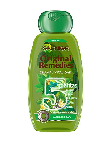 Garnier Shampoo, Original Remedies Champú 5 Plantas, 250 ml