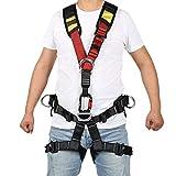 WDSZXH Ajustable Arnes de Seguridadarnés, Arnés de Escalada Escalada 5 Puntos Protección de Cuerpo Completo, Cinturón de Seguridad Kit