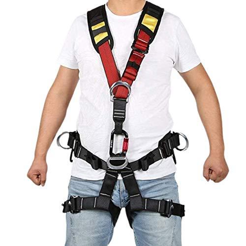 LXNQG Cintura di Sicurezza per L'arrampicata, Cintura di Sicurezza a Corpo Pieno,...