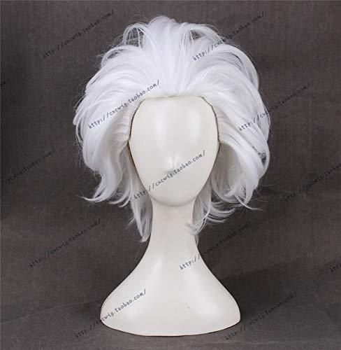 Anime La Sirenita Ursula Peluca de Cosplay Blanco Corto Resistente al calor Fiesta de carnaval Pelucas de cabello sintticoSL-817