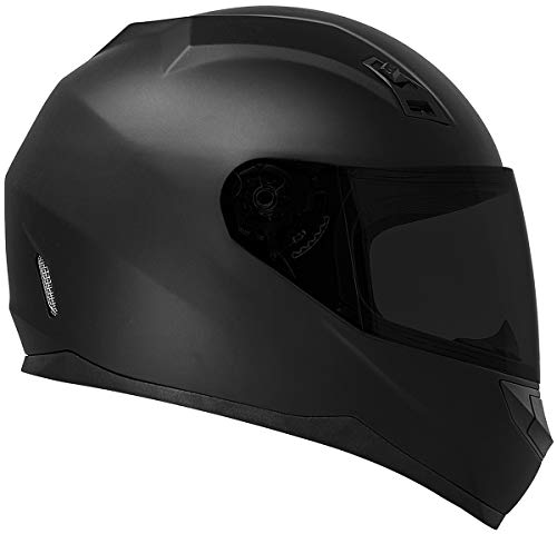 GDM DK-140 Full Face Motorcycle Helmet Matte Black (Large, Clear and Tinted Shields)