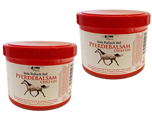 Iloda® 2x 500ml Pferdebalsam Chili Gel vom Pullach Hof, Pferdesalbe Pferdegel, Wärmegel, Wärmesalbe, Pferdesalbe mit wärmenden Gefühl