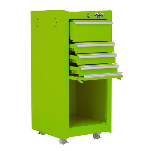 Viper Tool Storage V1804BLR 16-Inch 4-Drawer 18G Steel Rolling Tool/Salon Cart, with Bulk...