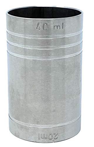 MAK Jigger - Vaso medidor doble (2 cl, 4 cl)