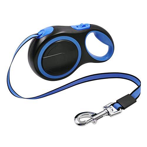 ZKYXZG Leine 3M 5M / 8M Hundeleine Einziehbares automatisches Flexibles Roulette für Hunde Leinenseil für Hunde Zubehör Großer Hundegeschirr Beagle, Blau, 5m Plus, 50 kg