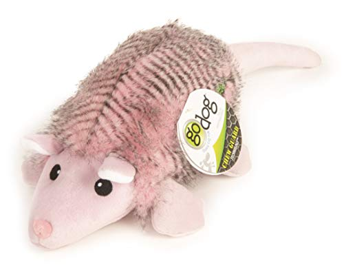 goDog Pink Fairy Armadillo with Chew Guard Technology Durable Durable Plush Squeaker Dog Toy