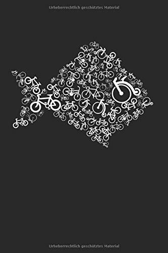 Fahrrad Fisch: Din A5 Heft (Kariert) | Notizbuch |Tagebuch Planer | Zeichenbuch | Malbuch | 120 Seiten, glänzendes Softcover