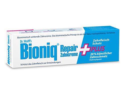 Bioniq Repair Zahncreme Plus - 4 x 75 ml - reparierende Zahnpasta mit künstlichem Zahnschmelz – schützt vor Zahnfleisch-Entzündungen, Zahnstein und Zahnbelag