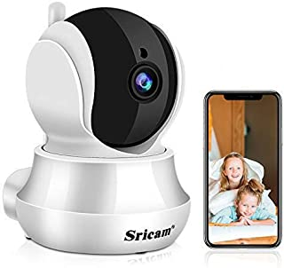 Sricam Cámaras de Vigilancia WiFi Interior 1296P, Cámara IP Intercomunicador bidireccional, Visión Nocturna, Detección de ...